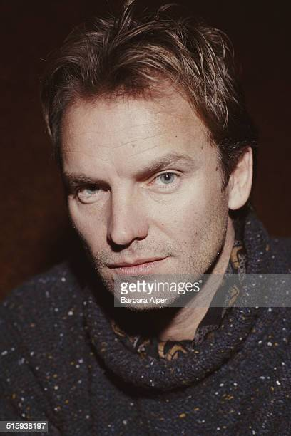British musician and actor Sting at the SIR Studio in New York City 14th January 1991