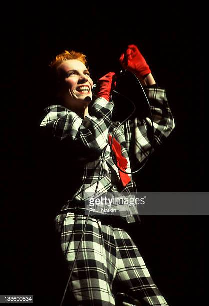 British musician Annie Lennox of the Eurthymics performs at the Auditorium Theater Chicago Illinois April 5 1984