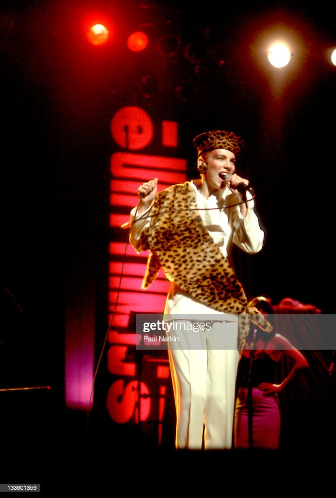 British musician Annie Lennox of the Eurthymics performs at the Auditorium Theater, Chicago, Illinois, April 5, 1984.