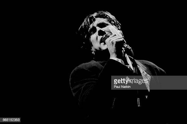British musician Bryan Ferry performs on stage at the Aire Crown Theater Chicago Illinois September 5 1988