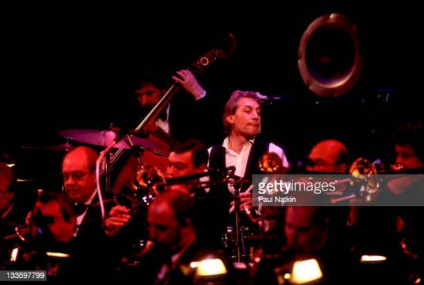 British musician Charlie Watts performs with his band the Charlie Watts Orchestra at the Park West Chicago Illinois June 20 1987