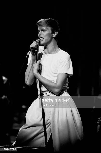 British musician David Bowie performs on stage at Arie Crown Theater Chicago Illinois April 17 1978