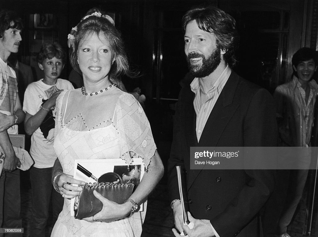 British musician Eric Clapton and his wife Pattie Boyd arrive at the Dominion Theatre in London for a Prince's Trust charity rock concert, 20th July 1983.