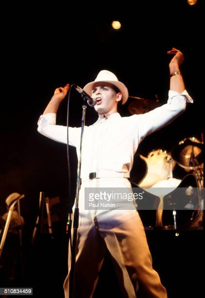 British musician Gary Numan performs onstage Chicago Illinois November 8 1982
