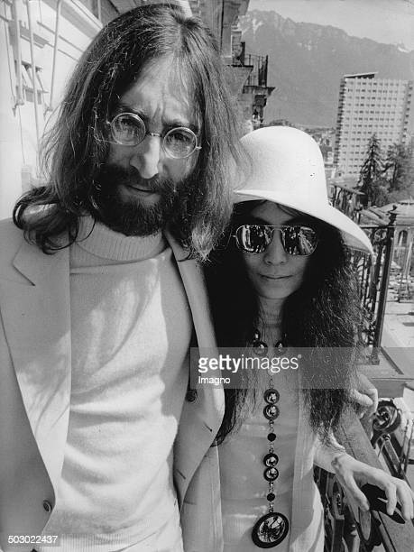 British musician John Lennon and his wife Yoko Ono Photograph