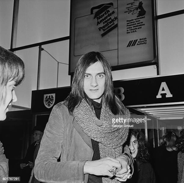 British musician Mick Fleetwood of Fleetwood Mac at London Airport UK 17th February 1970
