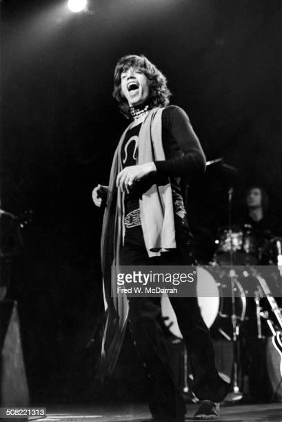British musician Mick Jagger of the rock band the Rolling Stones performs on stage at Madison Square Garden New York New York November 27 1969...