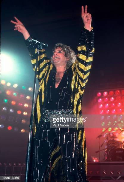 British musician Ozzy Osbourne performs at the Poplar Creek Music Theater in Hoffman Estates Chicago Illinois July 13 1986