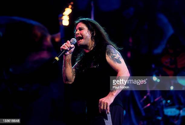 British musician Ozzy Osbourne performs at the World Music Theater Tinley Park Chicago Illinois August 20 2000