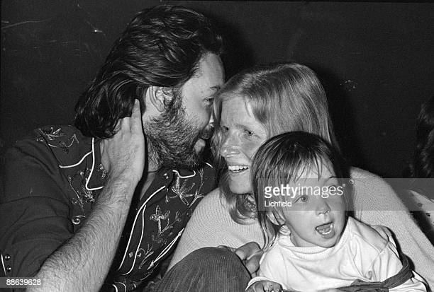 British musician Paul McCartney and his American wife Linda with their daughter Mary at the reception at Cafe des Arts after the wedding of Mick and...