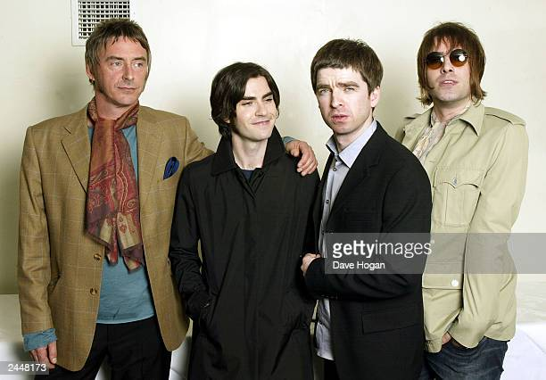 British musicians Noel and Liam Gallagher Kelly Jones and Paul Weller attend the charity concert in aid of the 'Teenage Cancer Trust' at the Royal...
