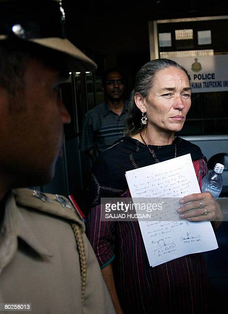 British national Fiona MacKeown the mother of slain British teenager Scarlett Keeling who was found dead on a Goa beach at the Anjuna tourist spot...