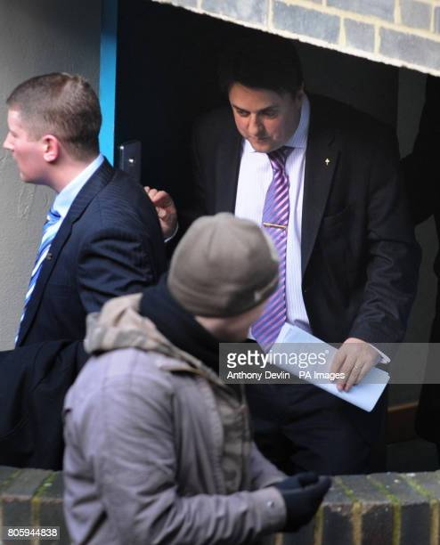 British National Party leader Nick Griffin leaves London County Court London after the party were barred from taking any new members after a judge...