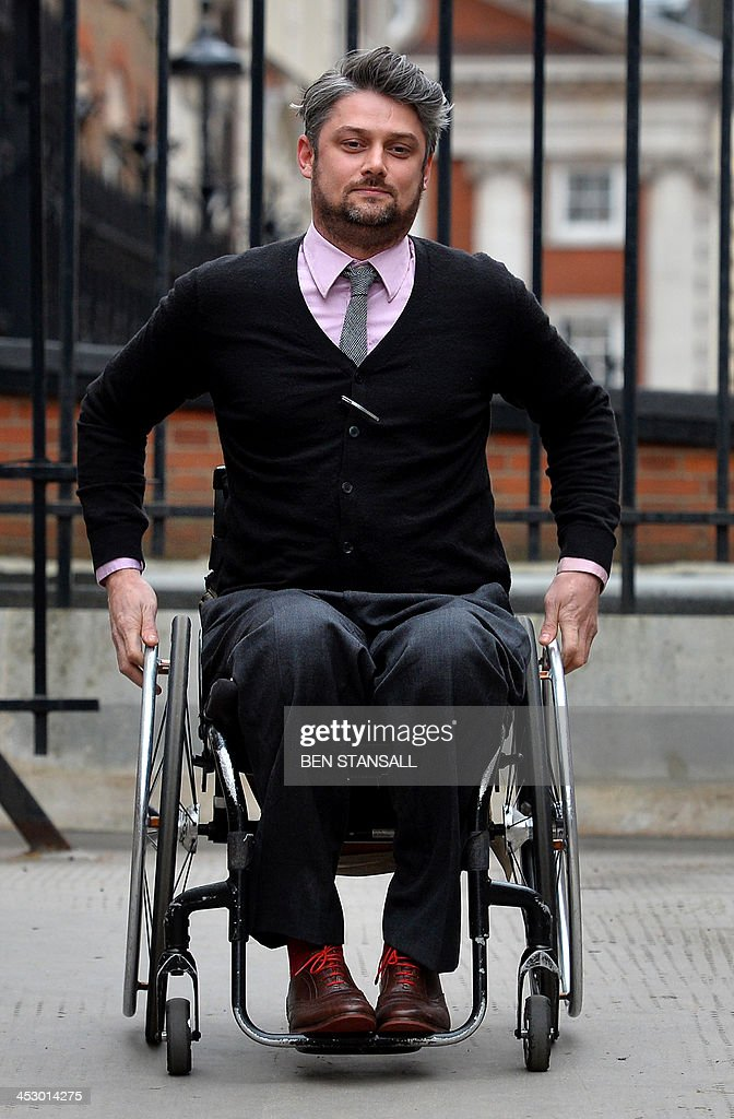 British national Will Pike, who was paralysed during the Mumbai terror attacks in 2008, arrives at the High Court in London on December 2, 2013. Will Pike appeared at the High Court to being legal proceedings against the Taj Mahal Palace Hotel owners after he was paralysed at the hotel during the attacks by Islamic extremists on the hotel and the city in 2008.