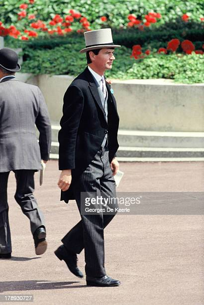 British naval officer Timothy Laurence attends Royal Ascot on June 21 1989 in Ascot England