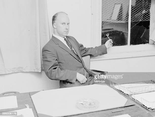 British Nazi Leader John Tyndall seen here in his office above The Viking Bookshop in Norwood High Street in South East London shortly after an...