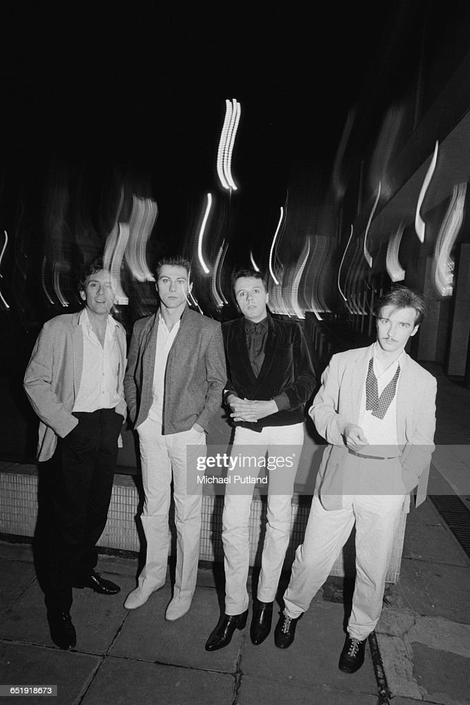 British new wave band Ultravox UK August 1980 Left to right bassist Chris Cross drummer Warren Cann keyboard player Billy Currie and singer Midge Ure