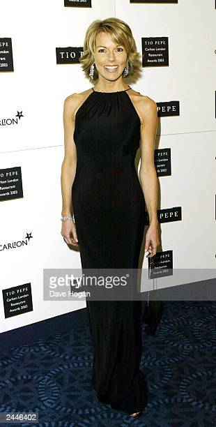 British news presenter Mary Nightingale attends 'The Tio Pepe Carlton London Restaurant Awards 2003' at the Great Room Le Meridian Grosvenor House on...