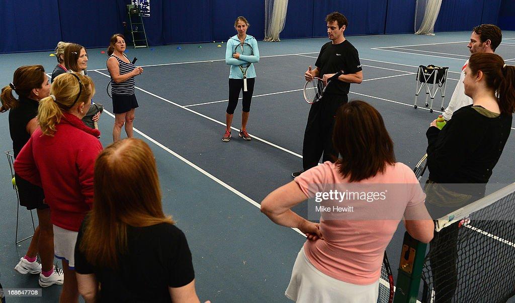 British no3 Johanna Konta prepares for Aegon International with Cardio Tennis at the Brighton Virgin Active and Racket Club on May 13, 2013 in Brighton, England.