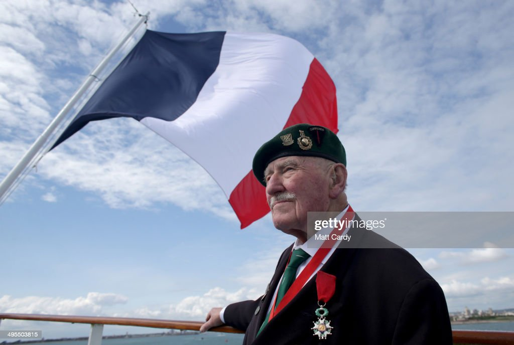British Normandy Veteran Pat Churchill, 90, who was with the 2nd Royal Marines Armoured Support Regiment looks towards France as he travels aboard the Brittany cross channel ferry Normandie, travelliing from Portsmouth to Caen to commemorate the 70th anniversary of D-Day on June 3, 2014 between Caen, France and Portsmouth, England. Friday 6th June is the 70th anniversary of the D-Day landings which saw 156,000 troops from the allied countries including the United Kingdom and the United States join forces to launch an audacious attack on the beaches of Normandy, these assaults are credited with the eventual defeat of Nazi Germany. A series of events commemorating the 70th anniversary are planned for the week with many heads of state travelling to the famous beaches to pay their respects to those who lost their lives.