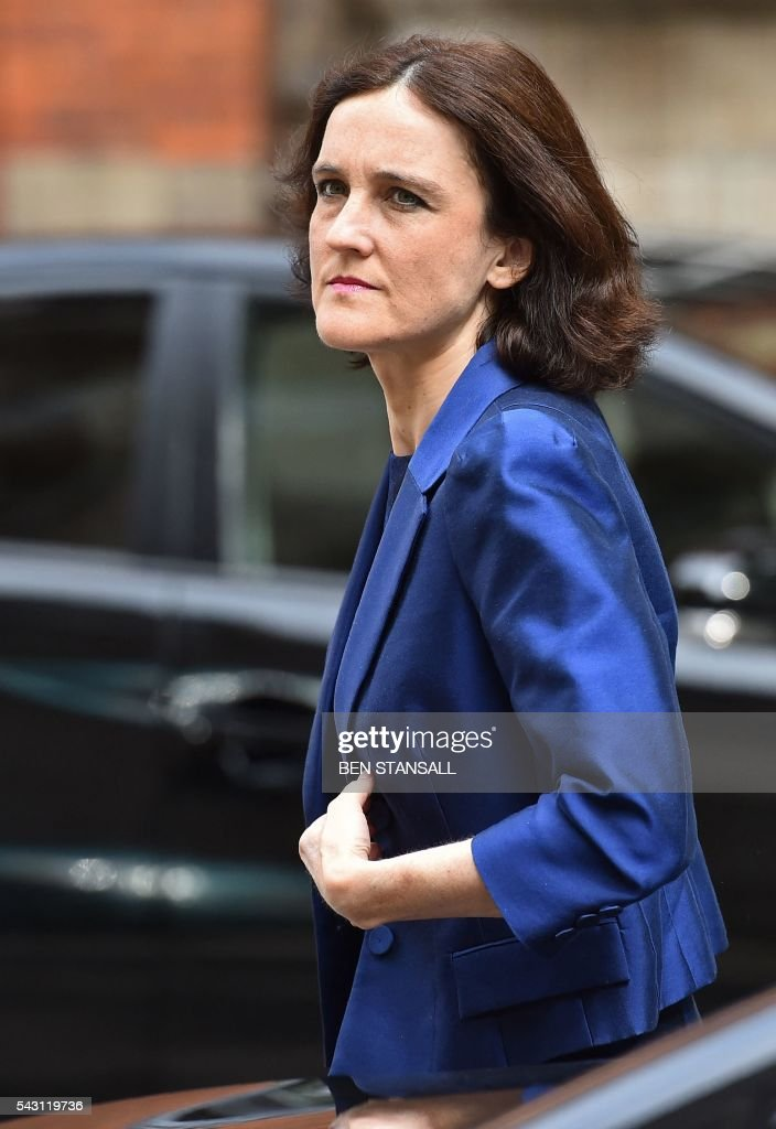 British Northern Ireland Secretary Theresa Villiers, arrives at Millbank television and radio studios in central London on June 26, 2016. The future of opposition Labour leader Jeremy Corbyn looked shaky on Sunday after two members of his top team quit and others seemed set to follow over his handling of Britain's EU referendum. Corbyn sacked his foreign affairs spokesman, Hilary Benn, late Saturday after Benn said he no longer had confidence in his leadership, while health spokeswoman Heidi Alexander announced her resignation on Twitter Sunday. / AFP / BEN