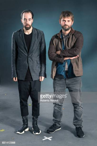 British novelist and journalist Ned Beauman and Scottish writer Martin MacInnes attend a photocall during the annual Edinburgh International Book...
