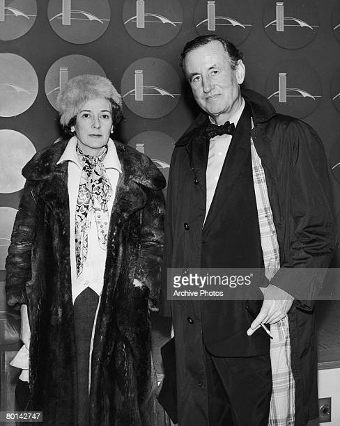 British novelist Ian Fleming and his wife Anne arrive in New York February 1962 They are stopping there on a journey between London and Jamaica