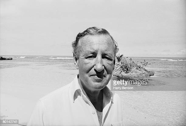 British novelist Ian Fleming on the beach near Goldeneye his Jamaica home 23rd February 1964