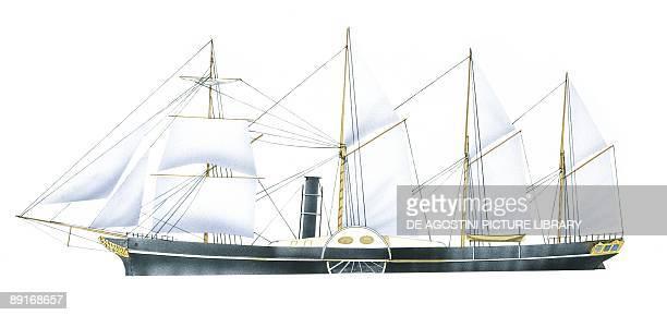 British ocean liner SS Great Western illustration