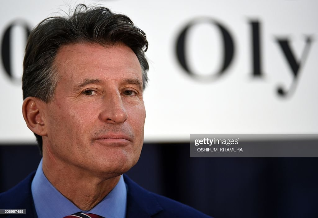 British Olympic Association chairman Sebastian Coe poses at a photo session after a signing ceremony for the British team's Tokyo 2020 Olympic games preparation camp in Tokyo on February 8, 2016. Beleaguered world athletics boss Coe admitted on February 8 there would be no quick fix as he battles to restore public trust in the crisis-hit sport. AFP PHOTO / TOSHIFUMI KITAMURA / AFP / TOSHIFUMI KITAMURA