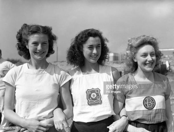 British Olympic athletes Maureen Gardner Sylvia Cheeseman and Irene Royse