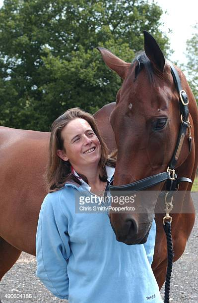 British Olympic equestrian rider Pippa Funnell with her horse circa 2008
