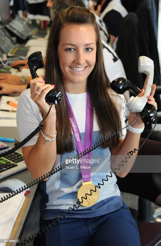 British Olympic gold medalist cyclist <a gi-track='captionPersonalityLinkClicked' href=/galleries/search?phrase=Dani+King+-+Cyclist&family=editorial&specificpeople=7505449 ng-click='$event.stopPropagation()'>Dani King</a> attends the annual BGC charity day at BGC Partners on September 11, 2012 in London, England.