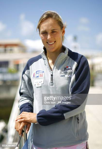 British Olympic Sailing Team hopeful Charlotte Dobson in Cascais Portugal where she is about to compete in the ISAF World Sailing Championships in...