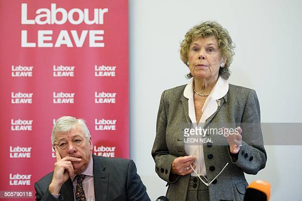 British opposition Labour party MP for Blackley and Broughton Graham Stringer listens as British opposition Labour party MP for Vauxhall Kate Hoey...