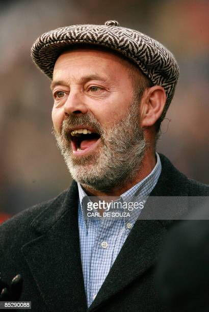 British personality Keith Allen father of pop singer Lily Allen is pictured before Fulham and Manchester United's FA cup match at home to Fulham at...
