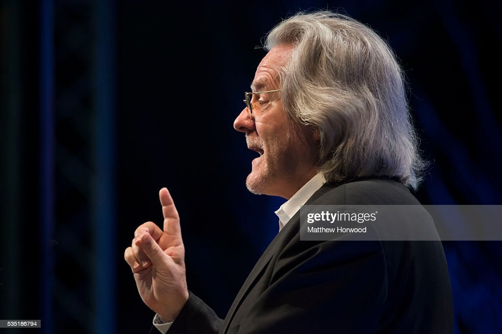 British philosopher AC Grayling (Anthony Clifford Grayling) speaks during 2016 Hay Festival on May 29, 2016 in Hay-on-Wye, Wales. The Hay Festival is an annual festival of literature and arts now in its 29th year.