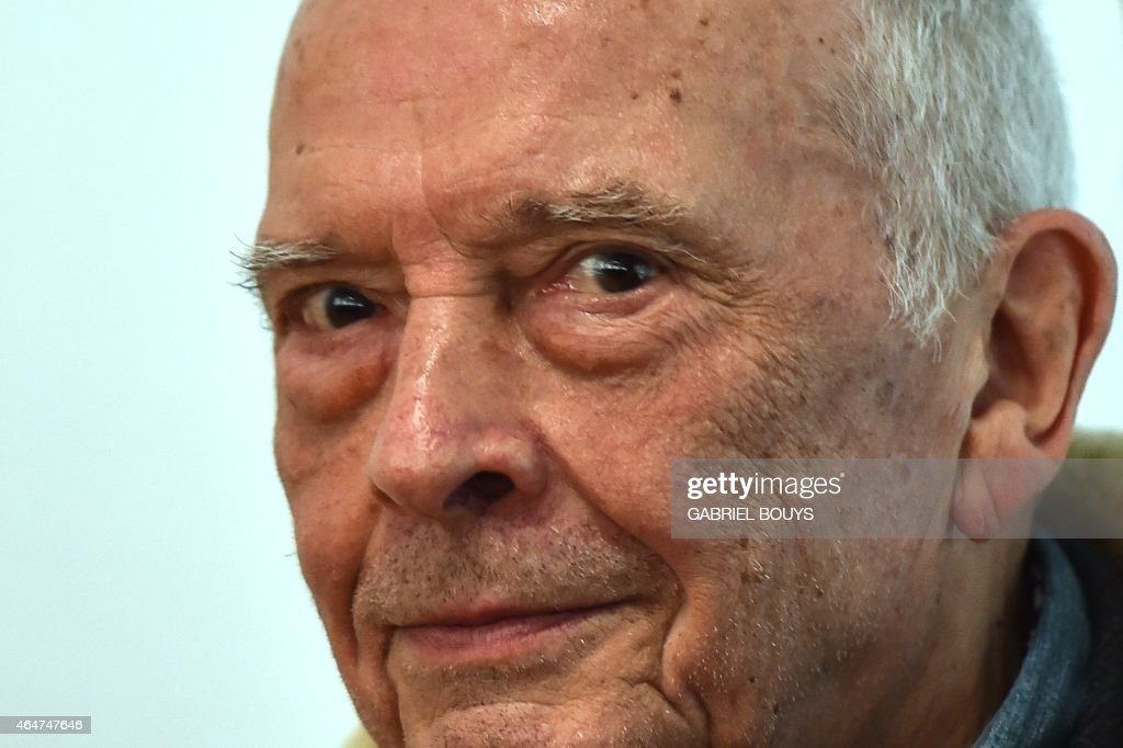 British photographer <a gi-track='captionPersonalityLinkClicked' href=/galleries/search?phrase=David+Bailey+-+Photographer&family=editorial&specificpeople=216323 ng-click='$event.stopPropagation()'>David Bailey</a> poses during the private preview of the exhibition 'Stardust' on February 28, 2015 in Milan. The show will run from March 1st to June 2, 2015 at the PAC museum (Contemporary Art Pavillon) in Milan.