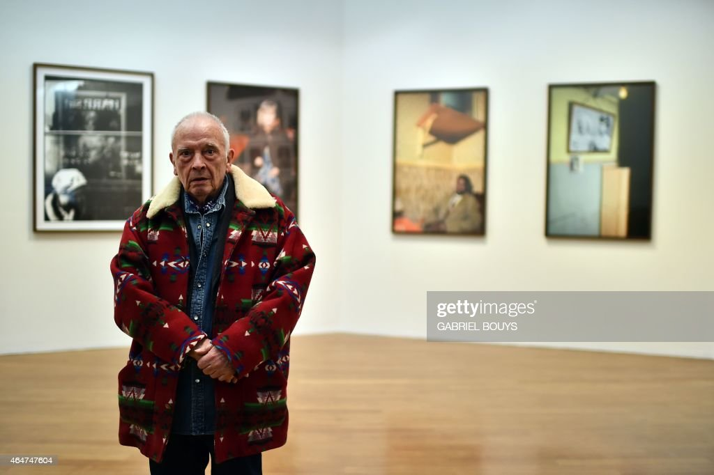 British photographer <a gi-track='captionPersonalityLinkClicked' href=/galleries/search?phrase=David+Bailey+-+Photographer&family=editorial&specificpeople=216323 ng-click='$event.stopPropagation()'>David Bailey</a> poses in front of his pictures during the private preview of the exhibition 'Stardust' on February 28, 2015 in Milan. The show will run from March 1st to June 2, 2015 at the PAC museum (Contemporary Art Pavillon) in Milan.