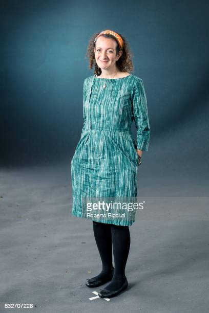 British playwright and writer Samantha Ellis attends a photocall during the annual Edinburgh International Book Festival at Charlotte Square Gardens...