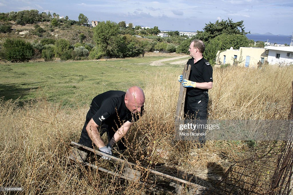 British police continue the search for Ben Needham, who went missing 21 years ago, on October 22, 2012 in Kos, Greece. The toddler from Sheffield was 21 months old when he vanished on the Greek island in July, 1991. Specialist British search teams and Greek police started excavating the site last week.
