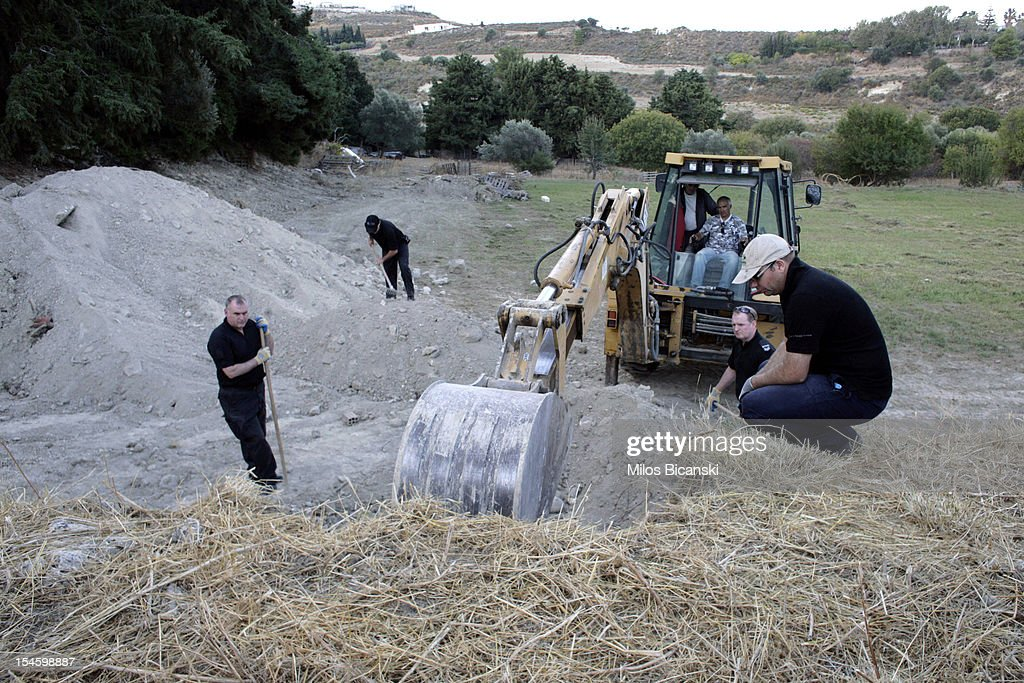 British police continue the search for Ben Needham, who went missing 21 years ago, on October 23, 2012 in Kos, Greece. The toddler from Sheffield was 21 months old when he vanished on the Greek island in July, 1991. Specialist British search teams and Greek police started excavating the site last week.