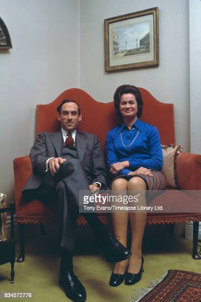 British politician and leader of the Liberal party Jeremy Thorpe with his wife concert pianist Marion Stein April 1973