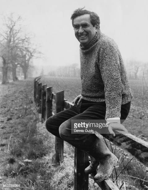 British politician Denis Healey the Chancellor of the Exchequer out walking in the countryside at his home Windlesham Lodge in Withyham East Sussex...