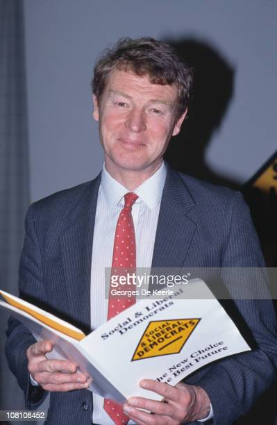 British politician Paddy Ashdown at the creation of the Social and Liberal Democrats UK 3rd March 1988 Formed by a merger of the Liberal Party and...