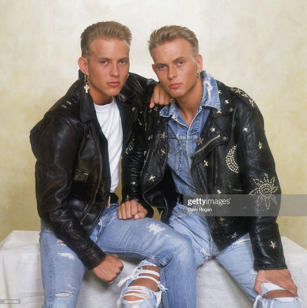 British pop duo Bros consisting of twin brothers Matt and Luke Goss circa 1990