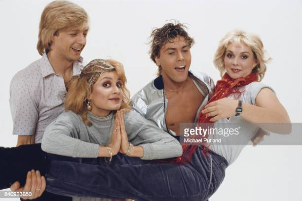 British pop group Bucks Fizz in 1982 From left to right Bobby G Jay Aston Mike Nolan and Cheryl Baker
