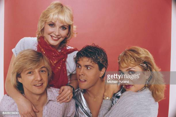 British pop group Bucks Fizz in 1982 From left to right Bobby G Cheryl Baker Mike Nolan and Jay Aston