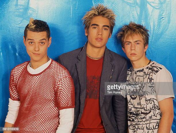 British pop group Busted circa 2003 Left to right Matt Willis Charlie Simpson and James Bourne