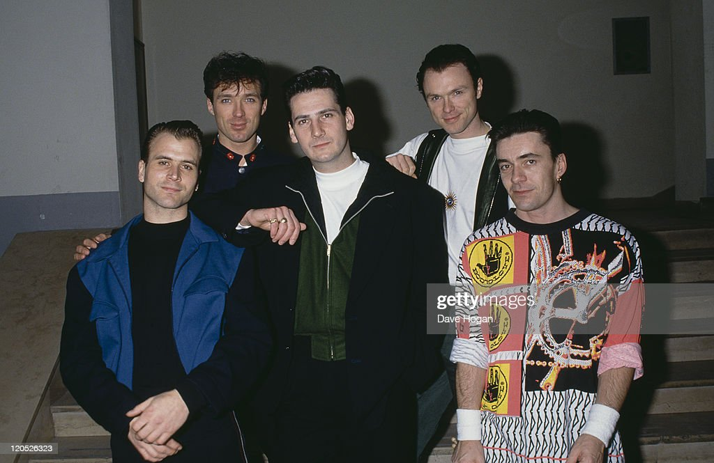 British pop group Spandau Ballet, circa 1985. Left to right: saxophonist <a gi-track='captionPersonalityLinkClicked' href=/galleries/search?phrase=Steve+Norman&family=editorial&specificpeople=1573333 ng-click='$event.stopPropagation()'>Steve Norman</a>, bassist <a gi-track='captionPersonalityLinkClicked' href=/galleries/search?phrase=Martin+Kemp&family=editorial&specificpeople=213385 ng-click='$event.stopPropagation()'>Martin Kemp</a>, singer <a gi-track='captionPersonalityLinkClicked' href=/galleries/search?phrase=Tony+Hadley&family=editorial&specificpeople=214652 ng-click='$event.stopPropagation()'>Tony Hadley</a>, guitarist <a gi-track='captionPersonalityLinkClicked' href=/galleries/search?phrase=Gary+Kemp&family=editorial&specificpeople=213076 ng-click='$event.stopPropagation()'>Gary Kemp</a> and drummer <a gi-track='captionPersonalityLinkClicked' href=/galleries/search?phrase=John+Keeble&family=editorial&specificpeople=2011250 ng-click='$event.stopPropagation()'>John Keeble</a>.
